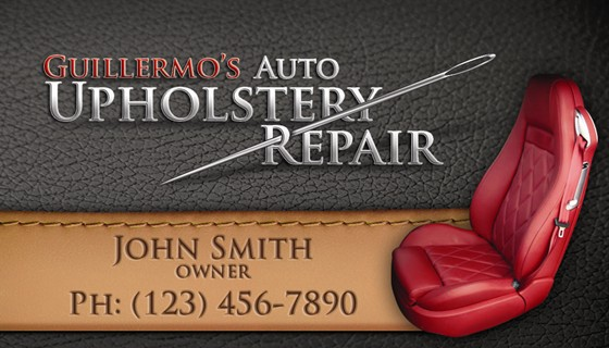 Graphic Design: Upholstery Repair Business Card Design